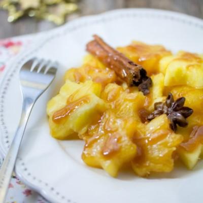 Etoiles d'ananas caramélisées aux épices {Menu étoilé}