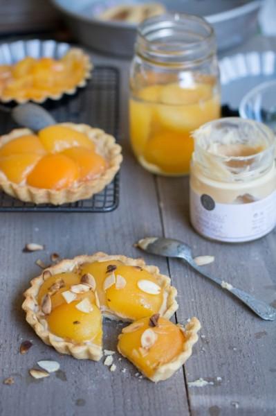 Tartelettes aux abricots et crème aux amandes