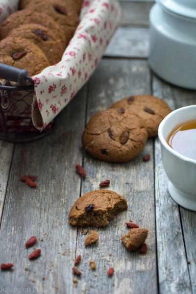 Cookies healthy aux baies de goji | Jujube en cuisine