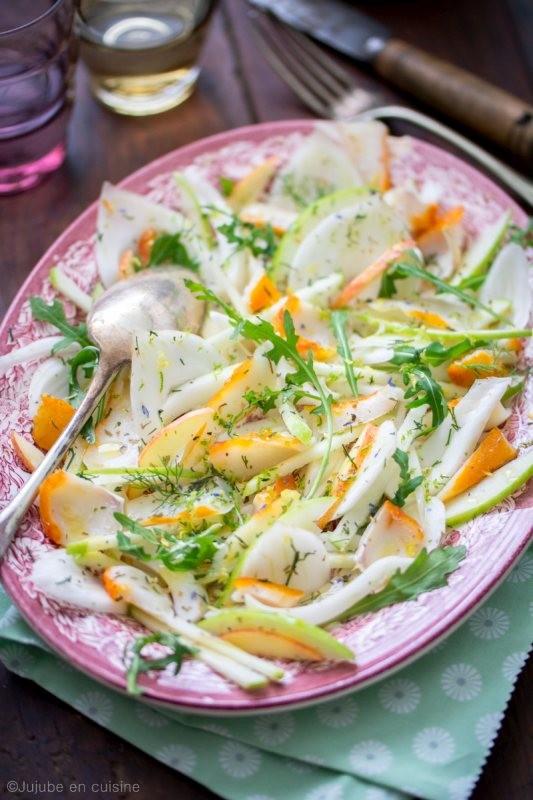 Salade de haddock, fenouil et pomme Granny Smith | Jujube en cuisine