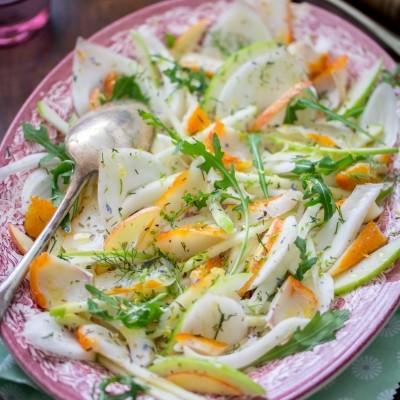 Salade de haddock, fenouil et pomme Granny Smith