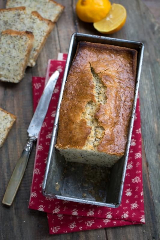 Cake au citron bergamote et pavot | Sans oeuf - Sans lait | Jujube en cuisine