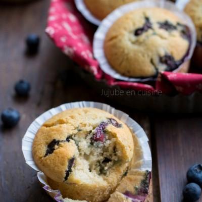 Muffins à la myrtille (super, hyper moelleux)