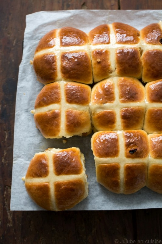 Hot cross buns (petits pains anglais de pâques)