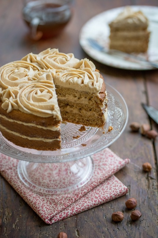 Layer cake à la noisette