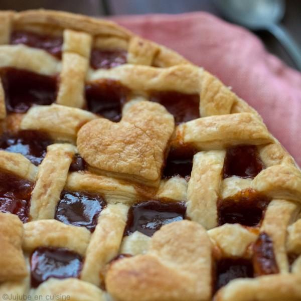 Tarte tressée à la confiture (avec des petits cœurs) | Jujube en cuisine