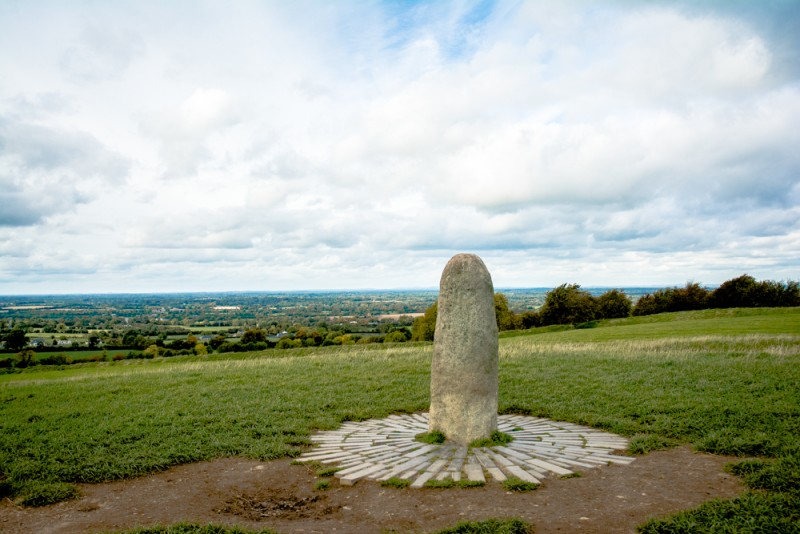 "Lia Fâil ""Pierre du destin"", Hill of Tara, Co. Meath, Irlande 