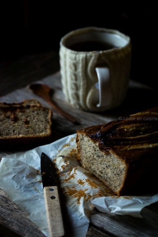 Banana bread citron pavot
