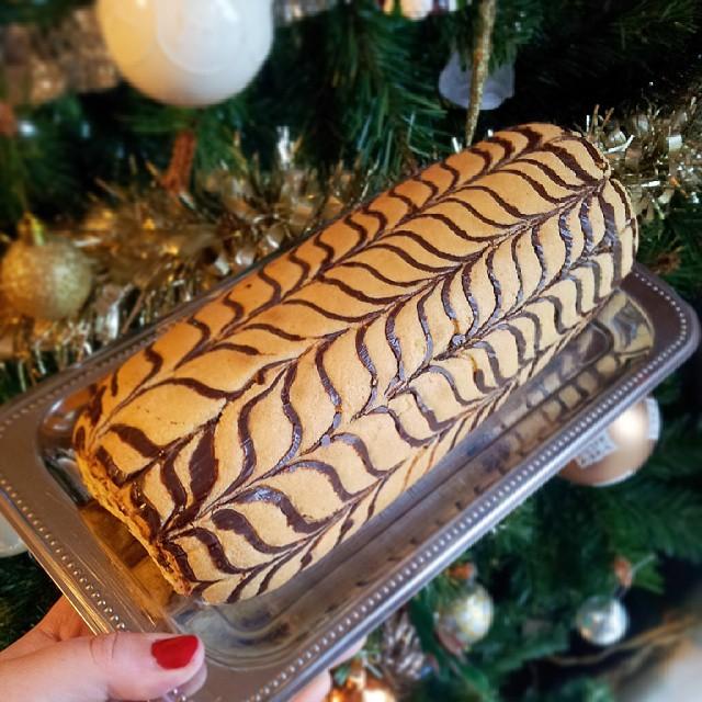 Biscuit pour gâteau roulé ou bûche, marbré comme un mille-feuille #InstaFood