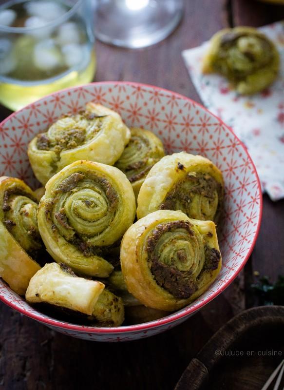 feuilletés apéritif - escargot au pesto | Jujube en cuisine