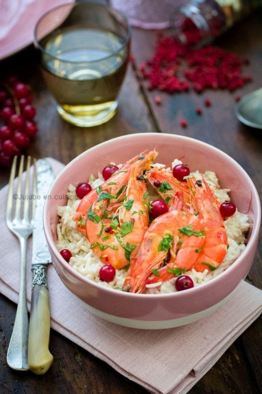 Riz coco et crevettes marinées | Jujube en cuisine