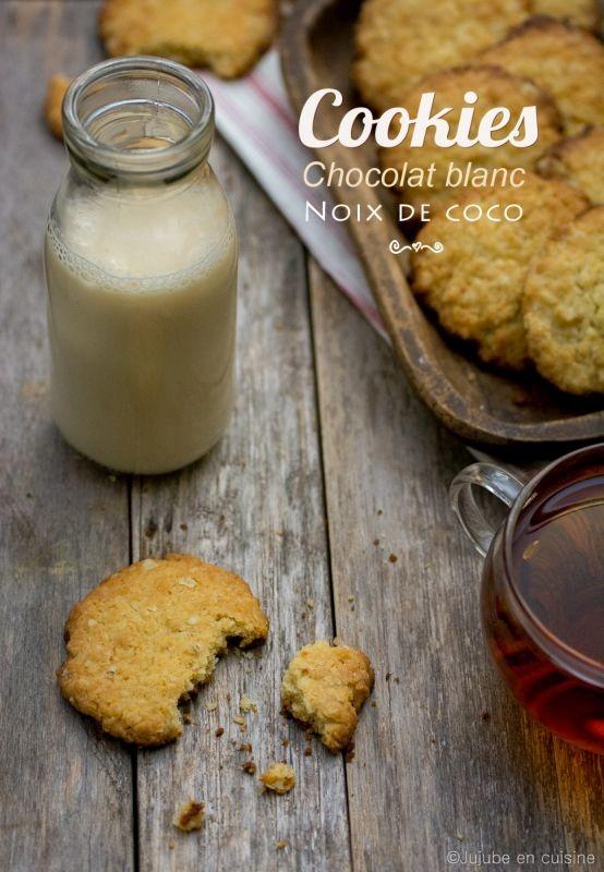 Cookies au chocolat blanc et noix de coco | Jujube en cuisine
