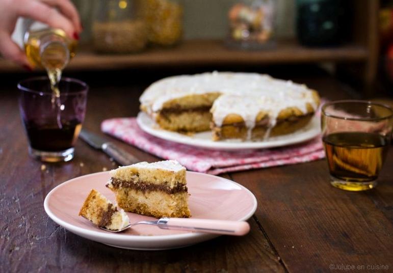 Gâteau au yaourt (sans oeuf), fourré chocolat et glacé | Jujube en Cuisine
