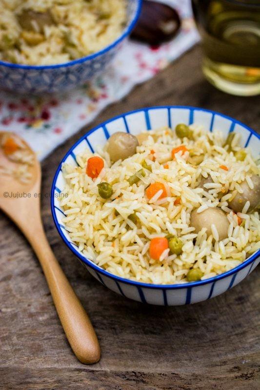 Riz aux petits légumes et champignons {Cuisine de la semaine en mode express} | Jujube en cuisine