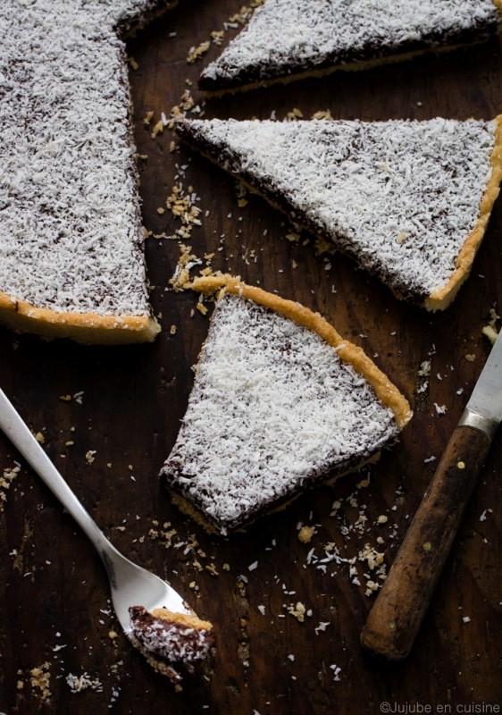 Tarte à la mousse au chocolat et noix de coco | Jujube en cuisine
