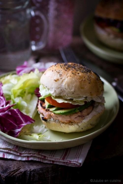 Burger maison au saumon frais | Jujube en cuisine