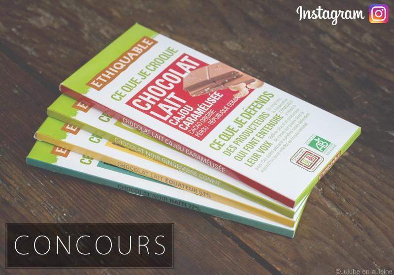 Concours Ethiquable et Jujube en cuisine sur Instagram !