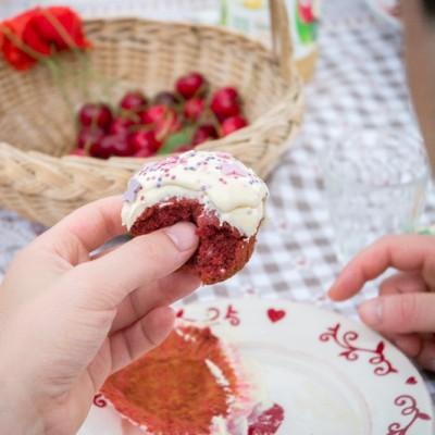 Red Velvet cupcakes (+ concours : gagnez le nouveau four PlusSteam d'Electrolux !)