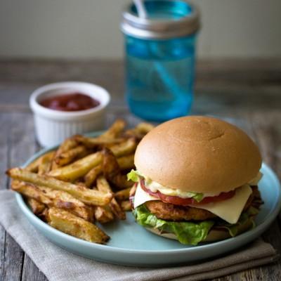 Veggie Burger sans gluten (lentilles corail, chou-fleur, poivron)