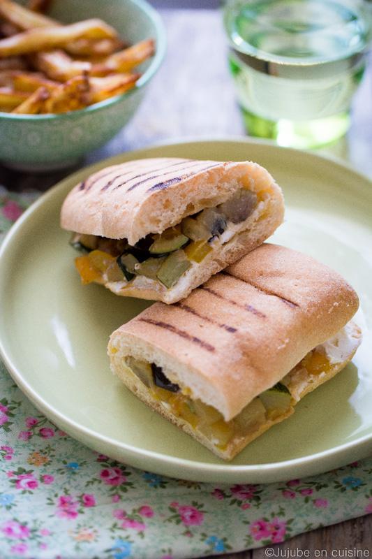 Sandwich panini légumes et fromage frais | Jujube en cuisine