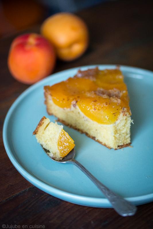 Gâteau renversé aux abricots | jujube en cuisine