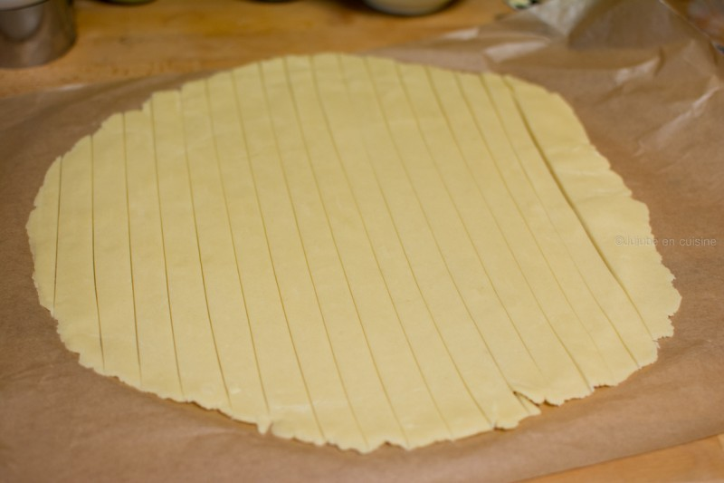 Apple pie Cookies | Découpez votre disque de pâte en bandelettes | Jujube en cuisine