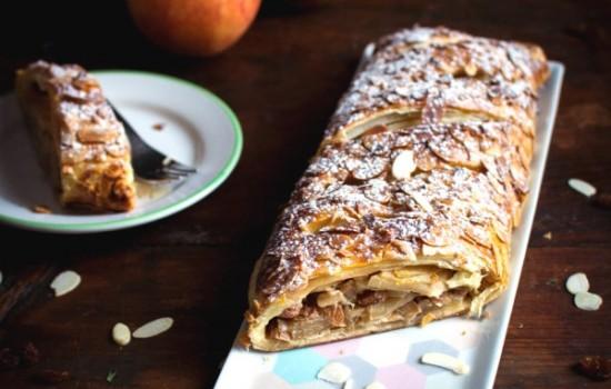 Apfelstrudel – Strudel aux pommes