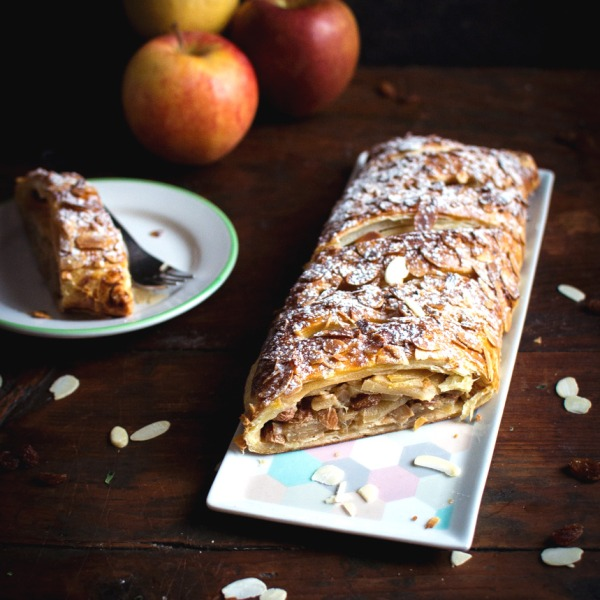 Apfelstrudel – Strudel aux pommes