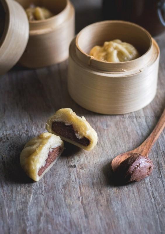 Banh bao sucrés (fourrés au gianduja)   Jujube en cuisine