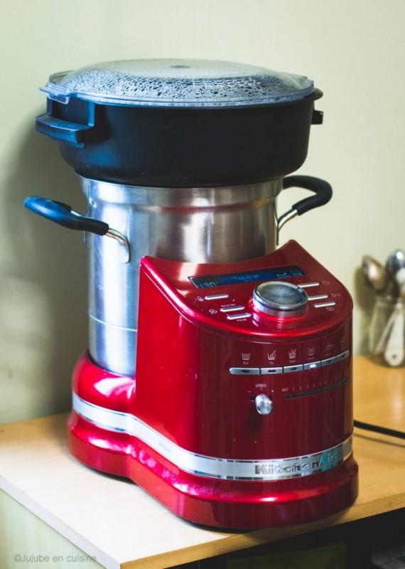 Le KitchenAid Cook Processor en mode cuisson vapeur
