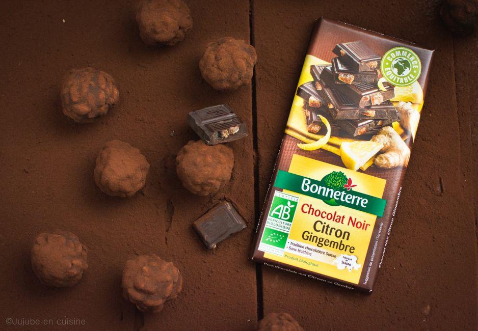 Truffes ou rochers au chocolat (citron gingembre) et riz soufflé   Jujube en cuisine