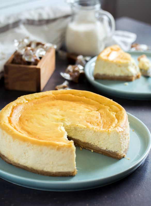 Cheesecake ricotta, spéculoos et caramel beurre salé