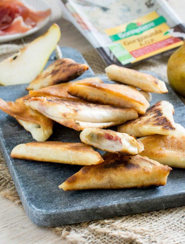 Brick gorgonzola, poire, jambon cru | Jujube en cuisine