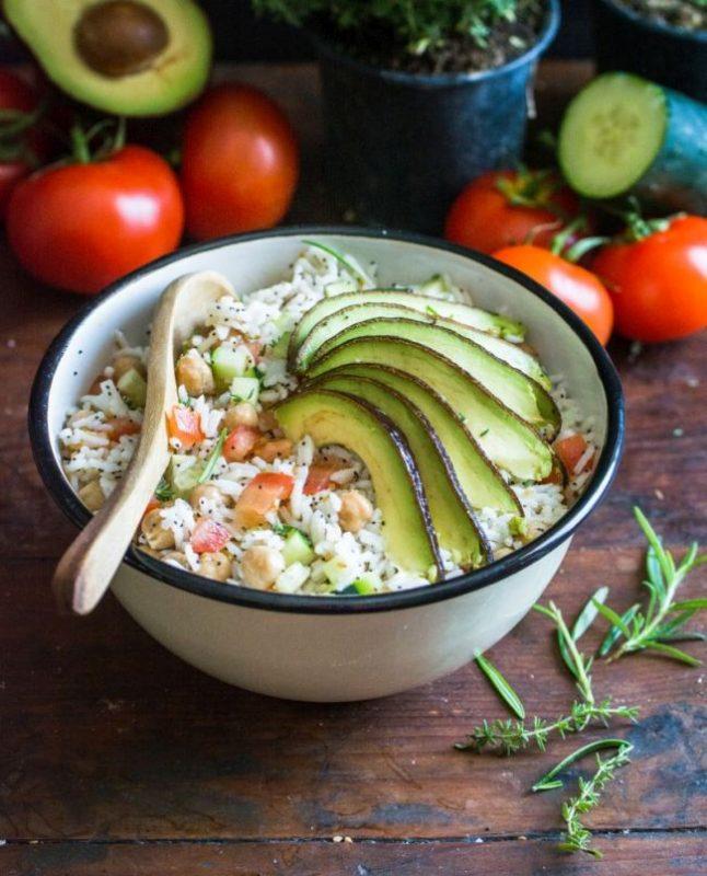 Salade de riz | Passionnément Vegan | Au vert avec Lili & Jujube en cuisine