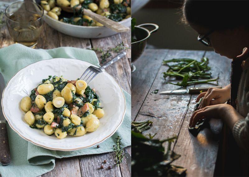 Gnocchis (sans gluten) aux fromages, épinards et petits salés | Jujube en cuisine