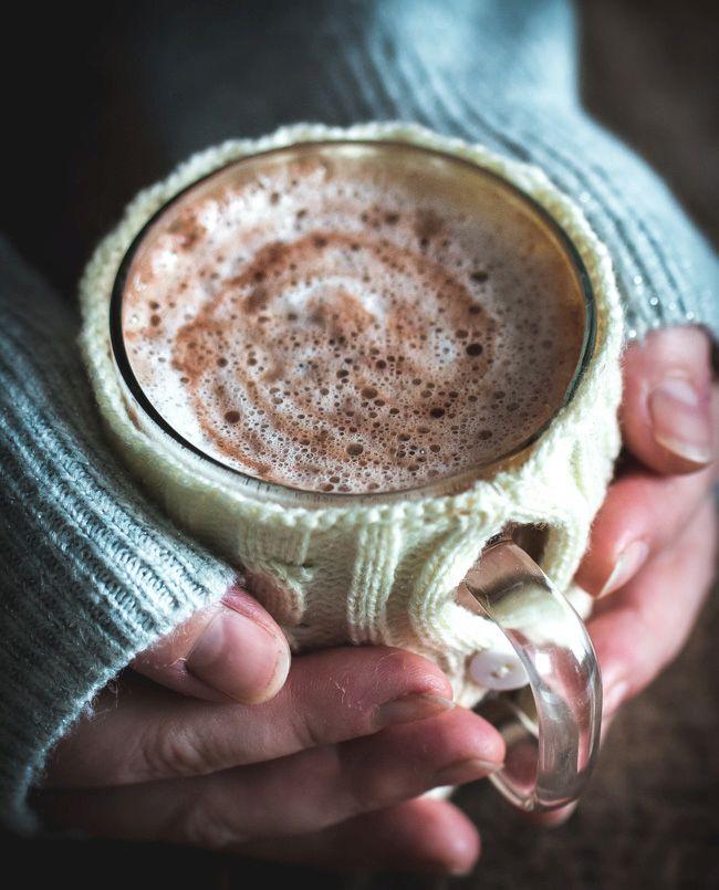 Délicieux chocolat chaud au lait de noix de cajou