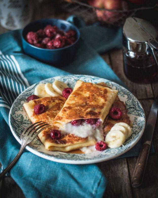 Crêpes fourrées à la crème et aux fruits (Chandeleur 2018) | Jujube en cuisine