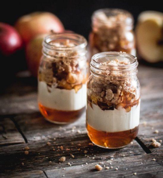 Verrines pommes et sirop d'érable de Ricardo (et un concours #MasonJar)