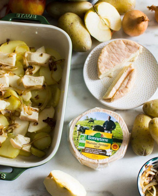 Gratin de pommes de terre, pomme et munster (comme une tartiflette) | Jujube en cuisine