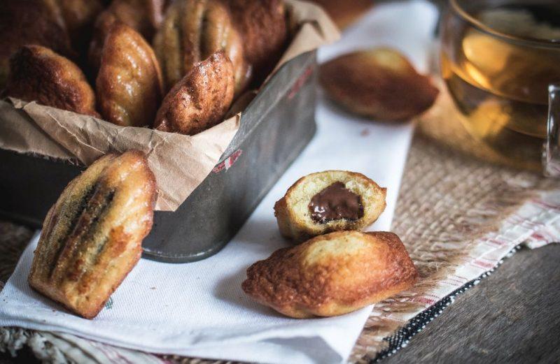 Madeleines au citron-bergamote (fourrées à la pâte à tartiner) | Jujube en cuisine