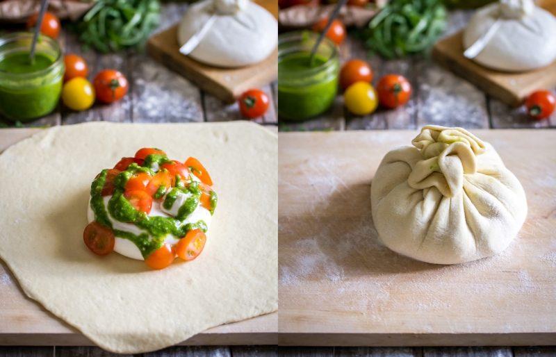 Chausson burrata, tomate, pesto de roquette et cajou | Jujube en cuisine