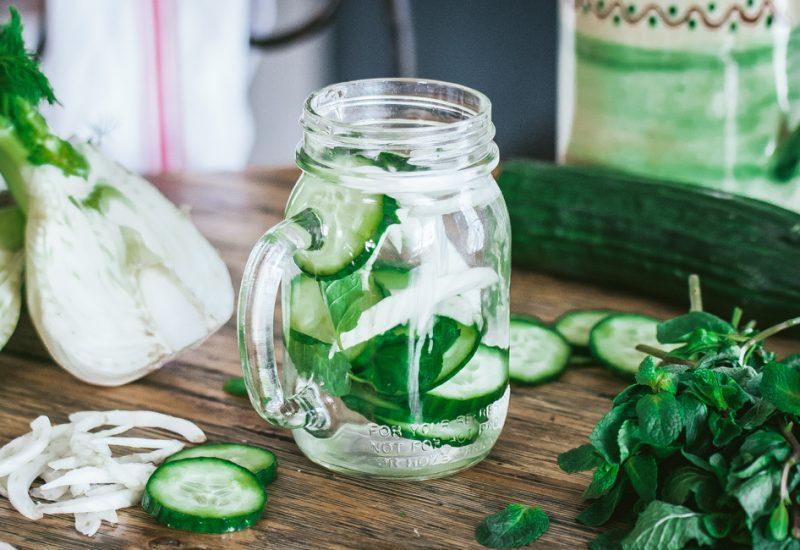 Detox water concombre fenouil menthe | Jujube en cuisine