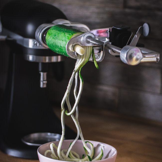 Mon avis sur l'accessoire Spiralizer pour mon KitchenAid Mini