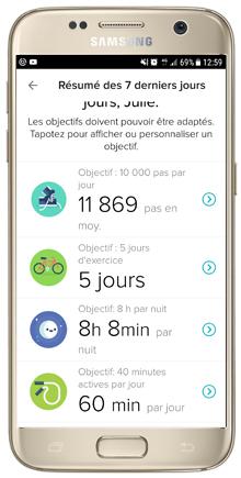 Résumé des objectifs sur 1 semaine | Mon avis sur la Fitbit Charge 2 | jujube en cuisine