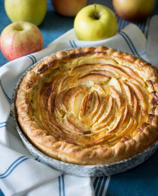 Tarte aux pommes façon normande