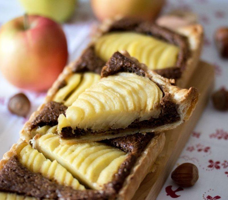 Tarte aux pommes à la noisette