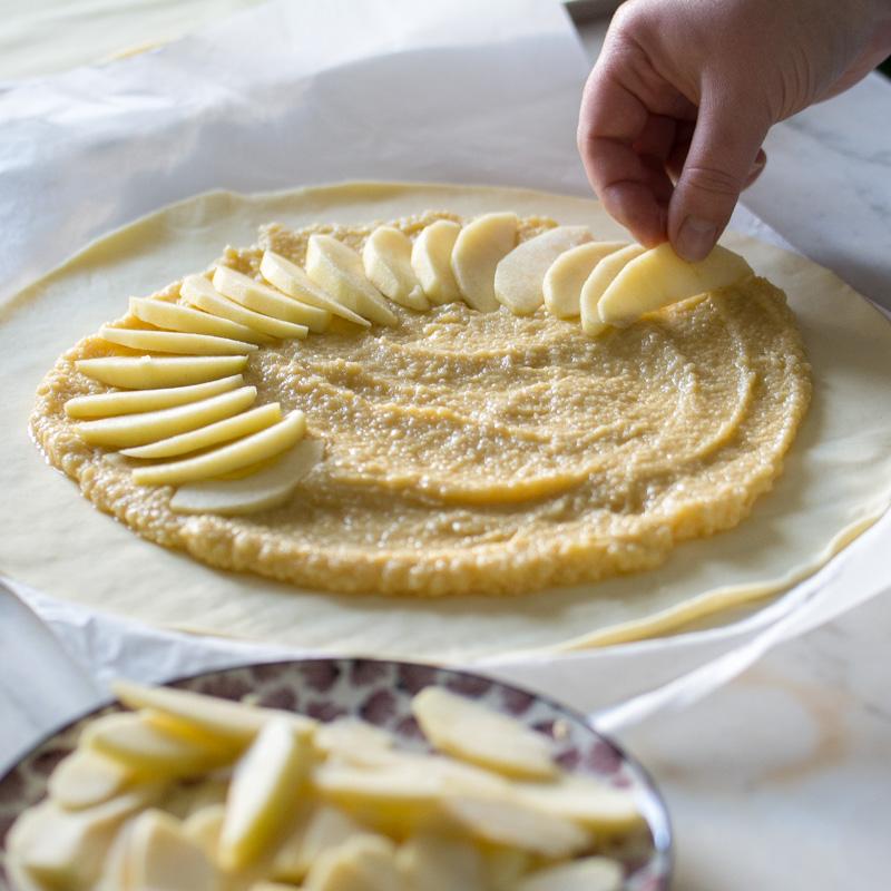 Galette des rois à la crème d'amande et pommes | Jujube en cuisine