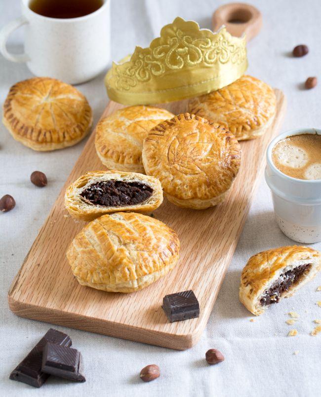 Mini galettes des rois à la noisette et chocolat