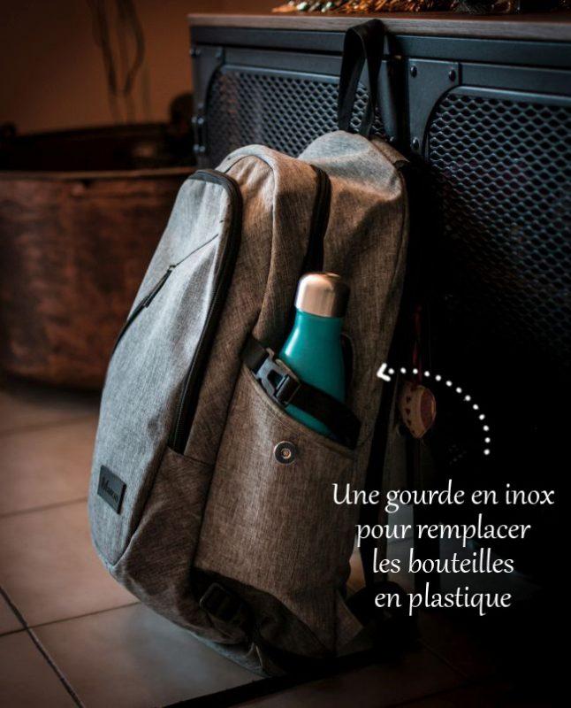 Une gourde en inox pour remplacer les bouteilles en plastique