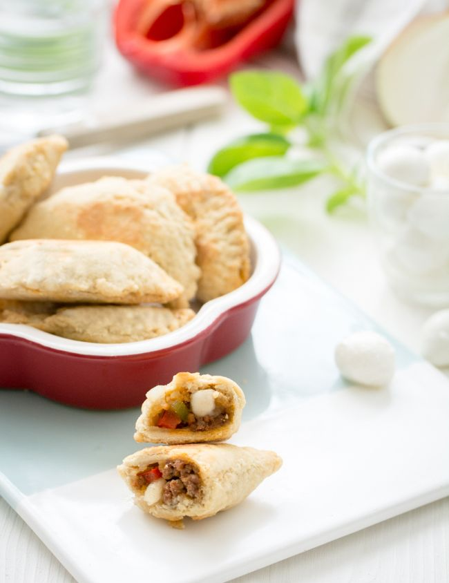 Empanadillas au bœuf et poivron (et mozzarella !)